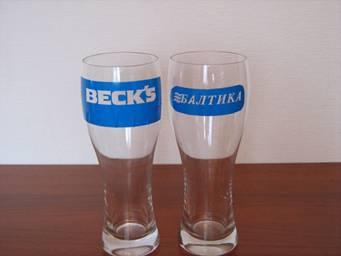 логотип на пивном бокале